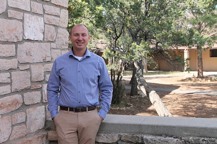 Matt Yost is the new principal at Grand Canyon School. Yost took over from Tom Rowland after his retirement earlier this year. (Erin Ford/WGCN)
