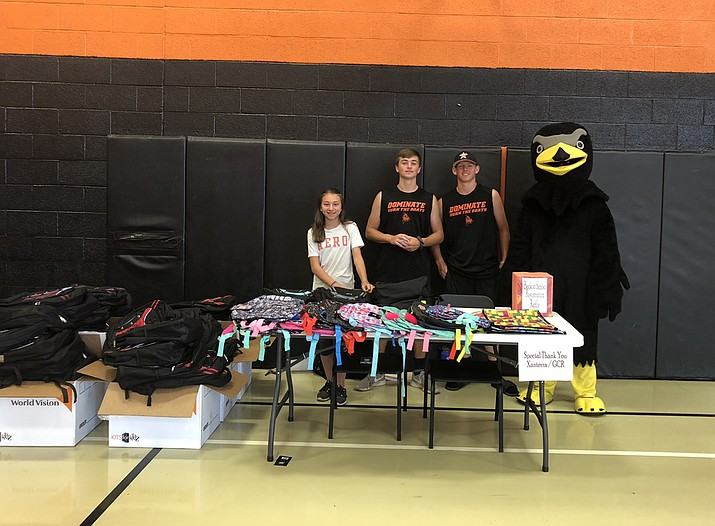 Xanterra and Grand Canyon Railway donated school supplies and backpacks to Williams Elementary-Middle School. (Photos/Grand Canyon Railway, WUSD, Wendy Howell)