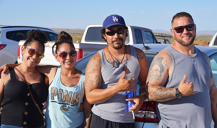 JT Vasquez, Robert Wilbanks, Jamie Garcia and Ashley Garcia enjoy Clear Creek Days July 20-21 in Winslow. (Todd Roth/NHO)