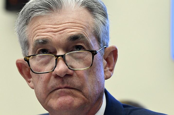 In this July 10, 2019, file photo Federal Reserve Chairman Jerome Powell testifies before the House Financial Services Committee on Capitol Hill in Washington. Powell has signaled that rising economic pressures, notably from President Donald Trump's trade wars and from a global slowdown, have become cause for concern. (AP Photo/Susan Walsh, File)