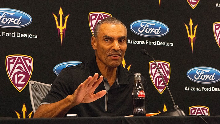 Arizona State coach Herm Edwards wonders how students would react to a 9 a.m. kickoff at Sun Devil Stadium. (Photo by Matthew Andujo/Cronkite News)