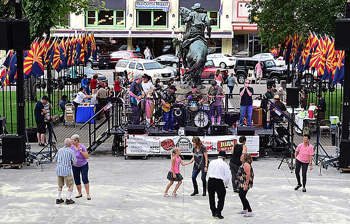 The 2016 National Night Out pre-party in downtown Prescott. (Les Stukenberg/Courier, file)