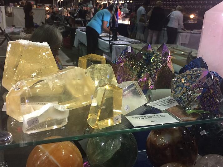 Various specimens at the Prescott Rock and Gem Club Show and Sale on Saturday, Aug. 5. The show continues Saturday and Sunday, Aug. 5-6 at the Prescott Valley Event Center. (Jason Wheeler/Courier)