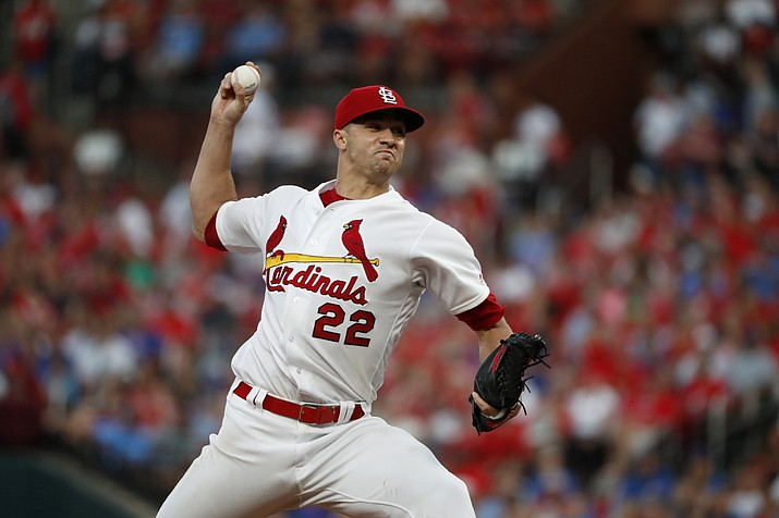St. Louis Cardinals starting pitcher Jack Flaherty throws during the sixth inning of the team's game against the Chicago Cubs on Thursday, Aug. 1, 2019, in St. Louis. (Jeff Roberson/AP)