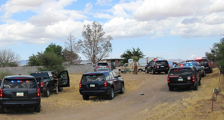 Initial investigations indicate that two males, who live on the same property, were arguing when the argument turned physical, leading to both men firing weapons at one another. (Photo courtesy of MCSO)
