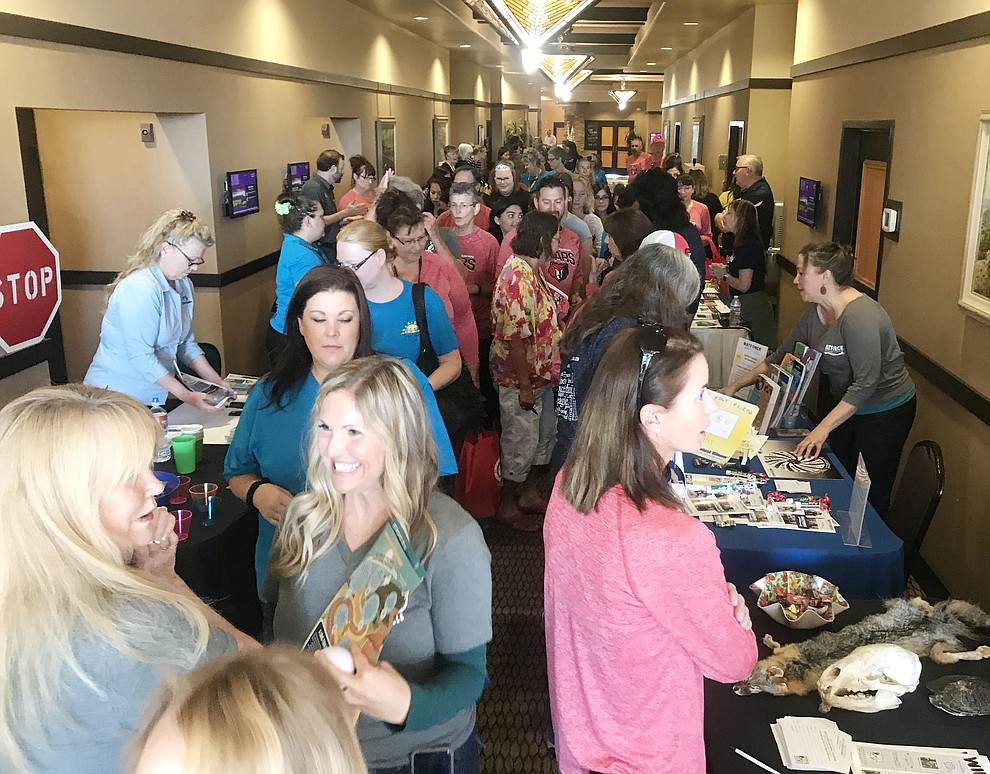 Vendors and community support partners greet the 805 employees as the Humboldt Unified School District held their 5th convocation at the Prescott Resort Friday, August 2, 2019. (Les Stukenberg/Courier)
