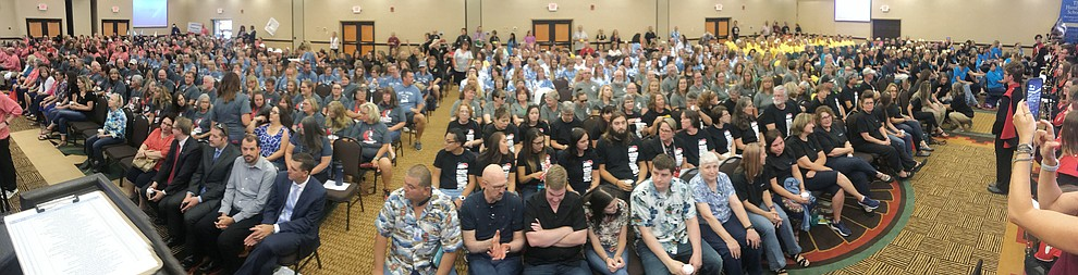 Humboldt Unified School District held their 5th convocation for 805 employees at the Prescott Resort Friday, August 2, 2019. (Les Stukenberg/Courier)
