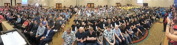 Humboldt Unified School District held their fifth convocation for 805 employees at the Prescott Resort Friday, Aug. 2, 2019. (Les Stukenberg/Courier)
