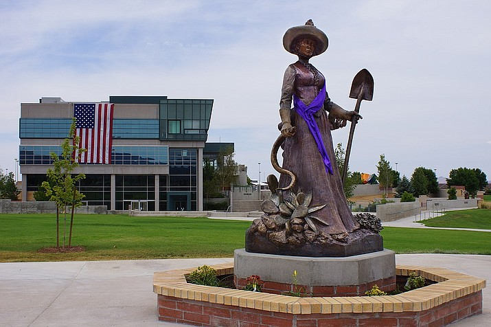 """Not so Gentle Tamer"" statue located at the Prescott Valley Civic Center. File photo by Chris English/Creative Commons 3.0, bit.ly/2ODyMSw"