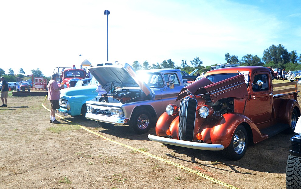 Cars, trucks and motorcycles on display at the 45th Annual Prescott Antique Auto Club Watson Lake Car Show Saturday, August 3, 2019, in Prescott. The show continues Sunday from 8 a.m. to 3 p.m. (Les Stukenberg/Courier)