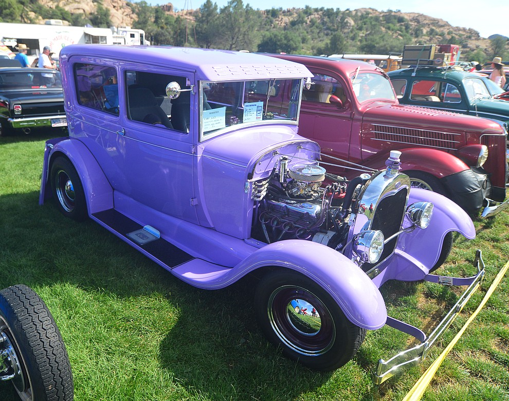 1929 Ford Model A at the 45th Annual Prescott Antique Auto Club Watson Lake Car Show Saturday, August 3, 2019, in Prescott. The show continues Sunday from 8 a.m. to 3 p.m. (Les Stukenberg/Courier)