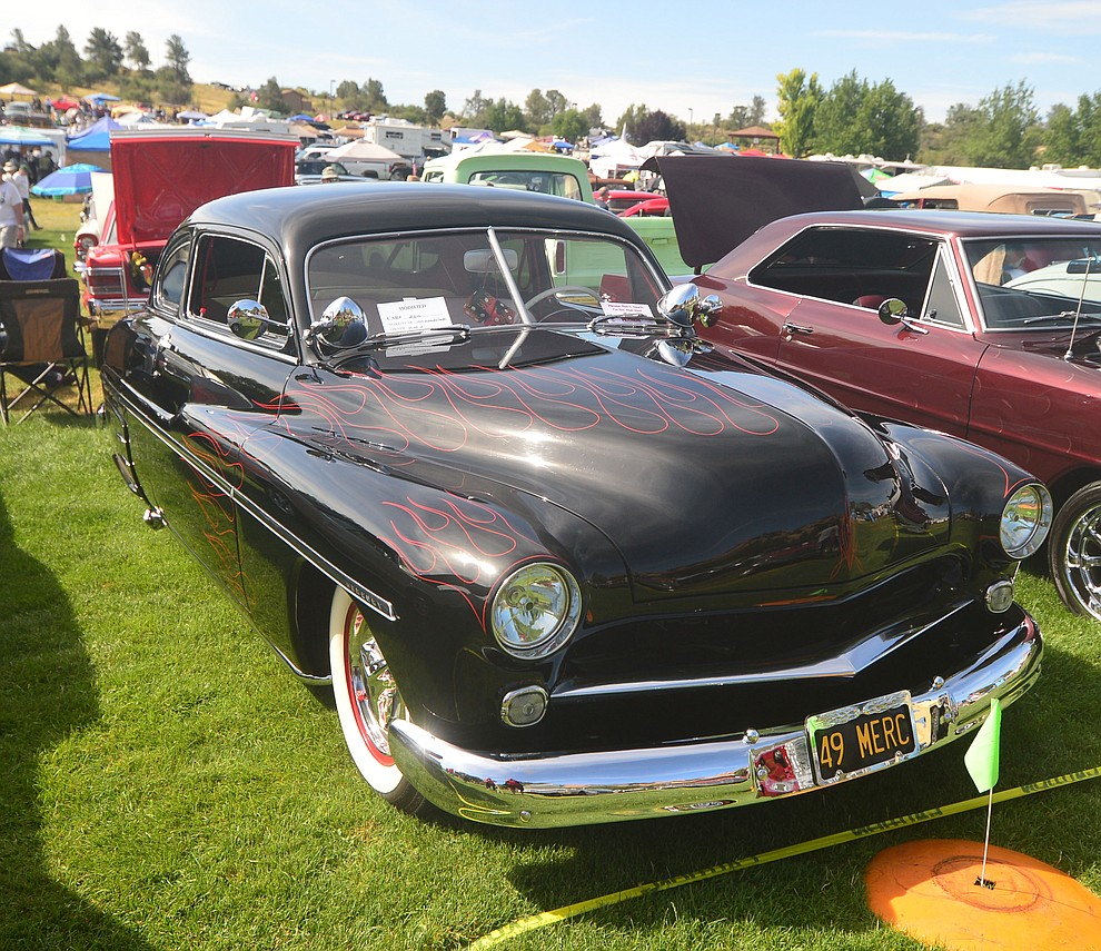 A 1949 Mercury at the 45th Annual Prescott Antique Auto Club Watson Lake Car Show Saturday, August 3, 2019, in Prescott. The show continues Sunday from 8 a.m. to 3 p.m. (Les Stukenberg/Courier)