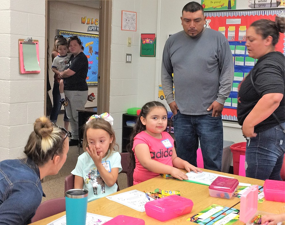 First day of school for the 2019-20 school year at Mountain View Elementary School in Prescott Valley. (Sue Tone/Courier)