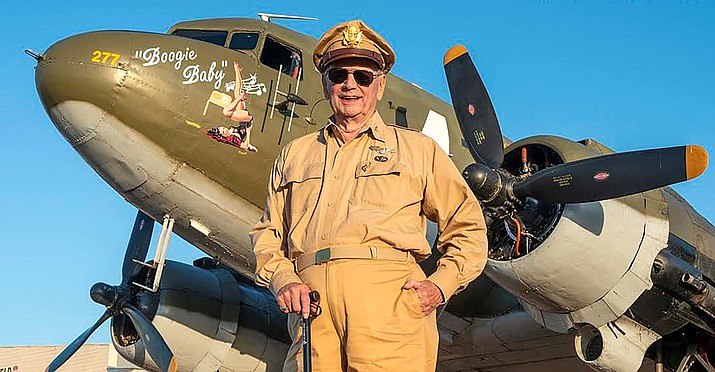 "Dave Hamilton stands beside ""Boogie Baby"" at Oklahoma's Frederick Army Air Field. (Gary Daniels/Courtesy)"