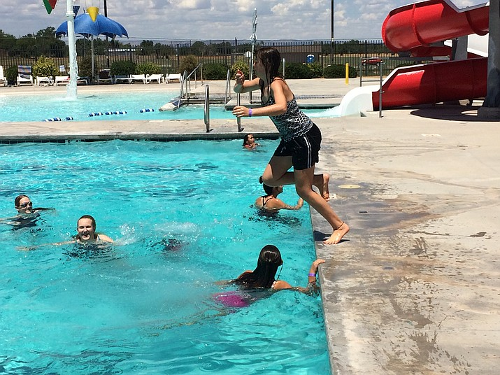 Swimmers enjoy themselves at the Chino Valley Aquatic Center Thursday, Aug. 1. (Jason Wheeler/Review)