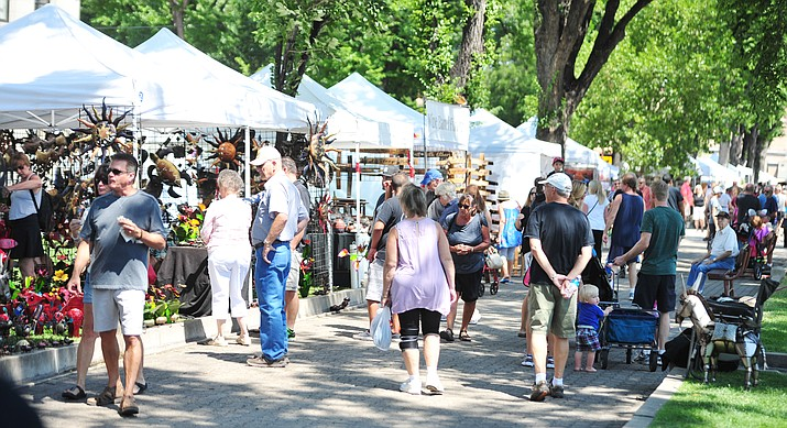 The Mountain Artists Guild's 69th annual August Arts & Crafts Festival is being held on Saturday, Aug. 10, 2019 at Courthouse Plaza in Prescott. (Les Stukenberg/Courier, file)