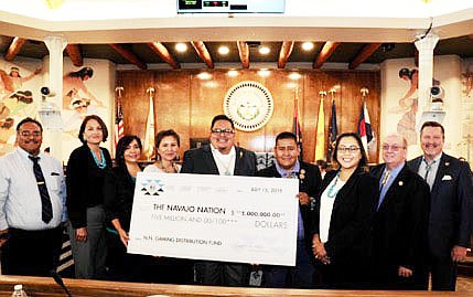 After a $5 million payment, Navajo Gaming will have given $23.3 million to the Navajo Nation Gaming Distribution Fund. (Photo/Navajo Nation Gaming)