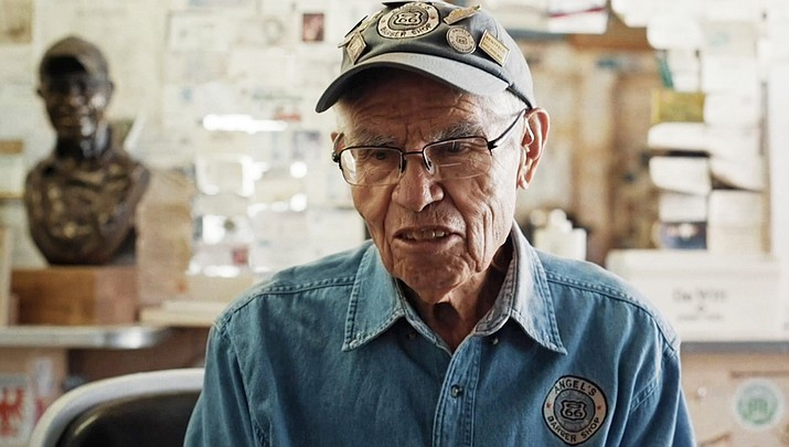Angel Delgadillo of Seligman, Arizona shares memories of Route 66 and its decline following the construction of Interstate 40 in the documentary film 'Almost Ghosts,' which premieres this September in Flagstaff. (Photo courtesy of Almost Ghost)