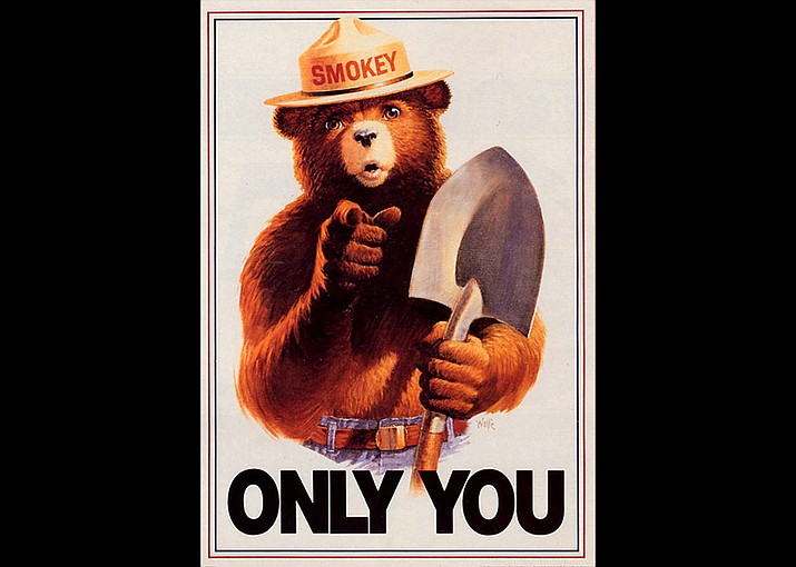 Although Smokey's image and catchphrases have changed over time, his message of fire prevention remains the same. (Ad Council/Illustration)