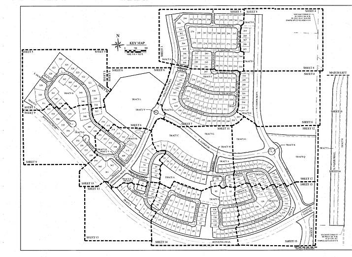 Phase 1 in the Jasper Development with 362 lots. (Town of Prescott Valley/Courtesy)