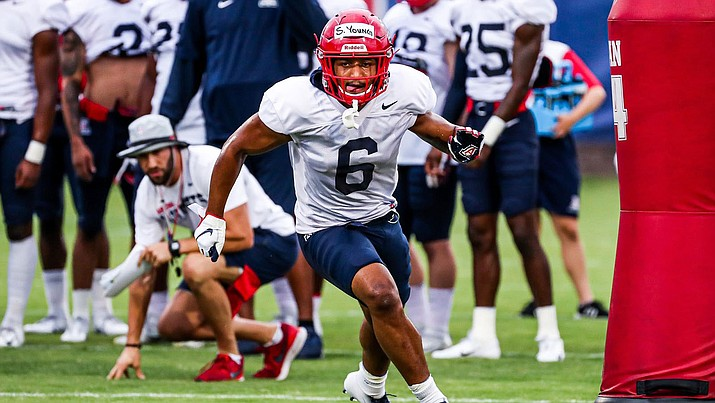 Scott Young Jr. is a key returnee for the Wildcats after leading the team with three interceptions last season. (Photo courtesy of Mike Christy/Arizona Athletics)