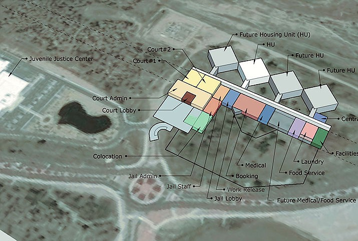Shown are plans for a new Criminal Justice Center in Prescott. For a full map view, visit dCourier.com. (City of Prescott/Courtesy)