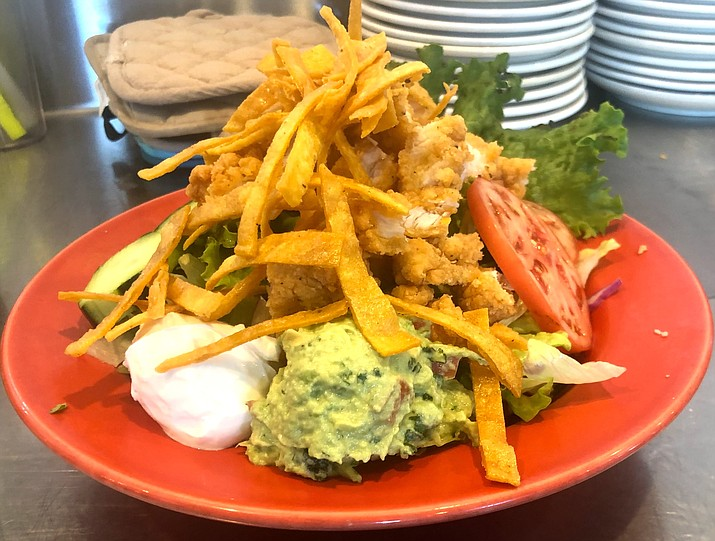 A Southwest chicken salad from Jen's Seventh Avenue Café. (Jen Greene/Courtesy)