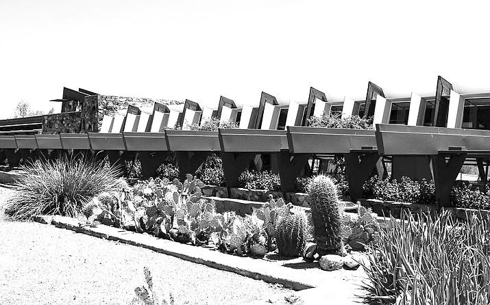 Around 110,00 visitors visit Taliesin West each year, and architecture students come to the property to study. (Photo by Elly Lundberg/Cronkite News)