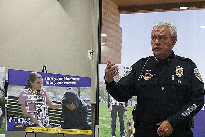 Kingman Police Department Chief Bob DeVries will join Mohave County Sheriff Doug Schuster and MCSO Capt. Don Bischoff as guest speakers at the Mohave Republican Forum on Wednesday. (Miner file photo)
