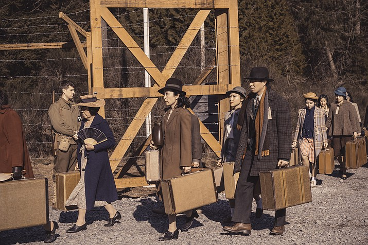"This undated image released by AMC shows a scene from ""The Terror: Infamy."" The second season of an AMC-TV drama series scheduled to premiere Aug. 12, follows the internment of Japanese Americans during World War II and a number of bizarre deaths haunting a Japanese American community. (Ed Araquel/AMC via AP)"
