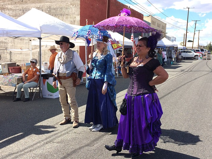The Shady Ladies parade down Main Street, Humboldt, during the 2018 Agua Fria Festival. (Sue Tone/Tribune, file)