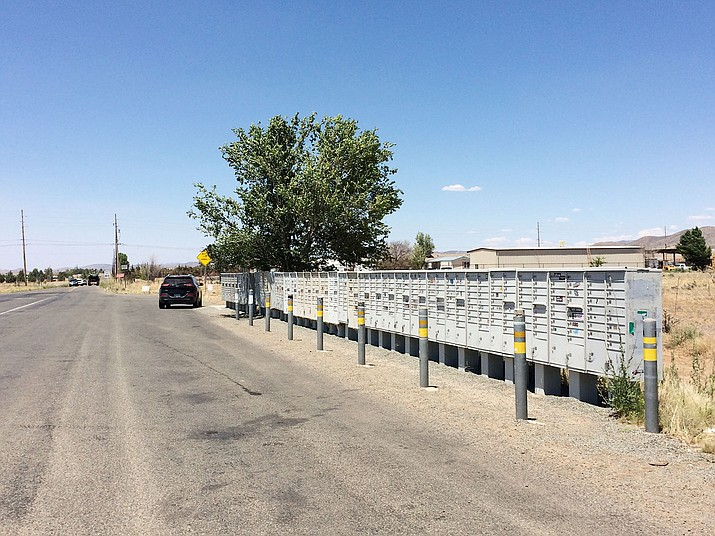 Prescott Valley, in partnership with the county and the U.S. Post Office, plan to move this bank of mailboxes that line Coyote Springs Road. (Sue Tone/Tribune)