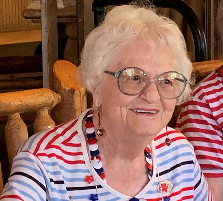 Lucille Sunde, 99, recently celebrated her birthday with a surprise party at Hualapai Mountain Resort. (Photo courtesy of DAR)