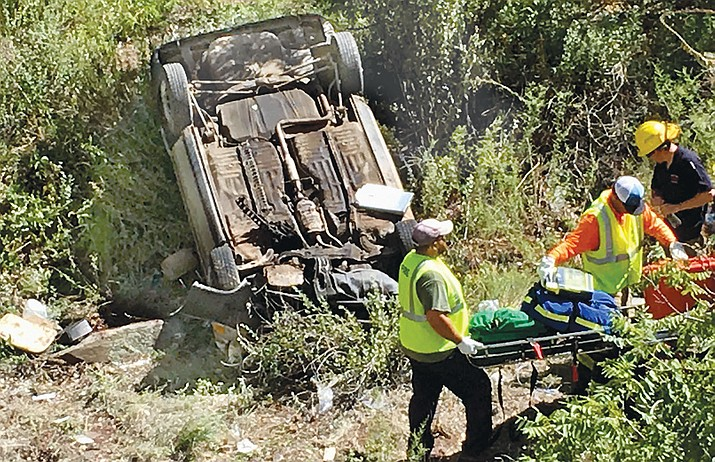 The driver in Monday's accident on State Route 89A near Jerome was pronounced dead at a nearby hospital Monday. VVN/Vyto Starinskas