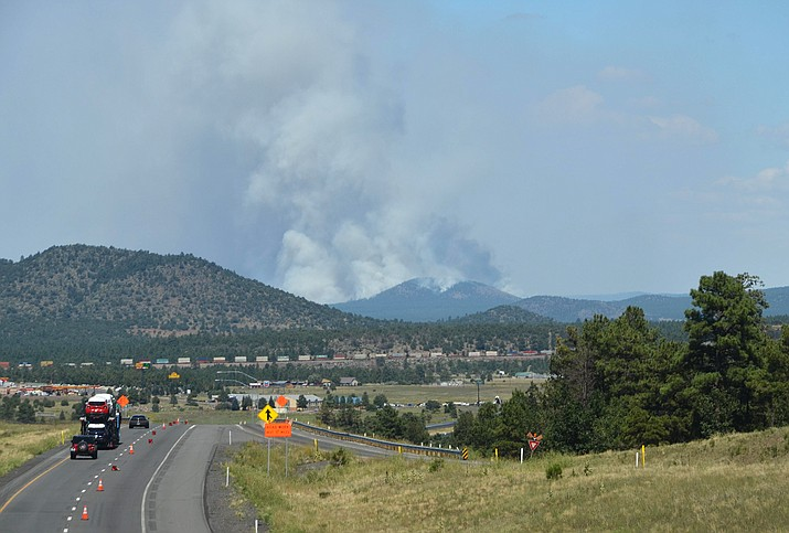 A noticeable increase in smoke volume could occur, however it will fade rapidly after the ignition operation is complete on the Boulin Fire northeast of Williams. (KNF/photo)