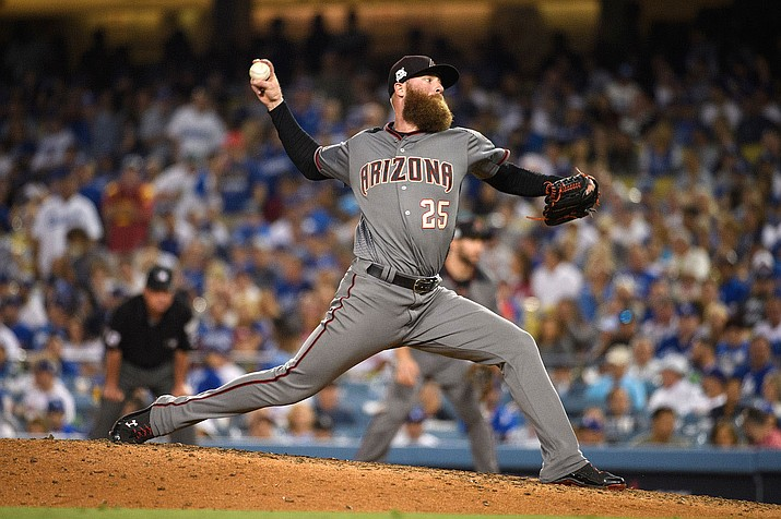 Archie Bradley couldn't close out the win for the D-backs as Colorado's Nolan Arenado hit a two-run homer Wednesday to give the Rockies a 7-6 walk-off victory. (File photo courtesy of Sarah Sachs/Arizona Diamondbacks)