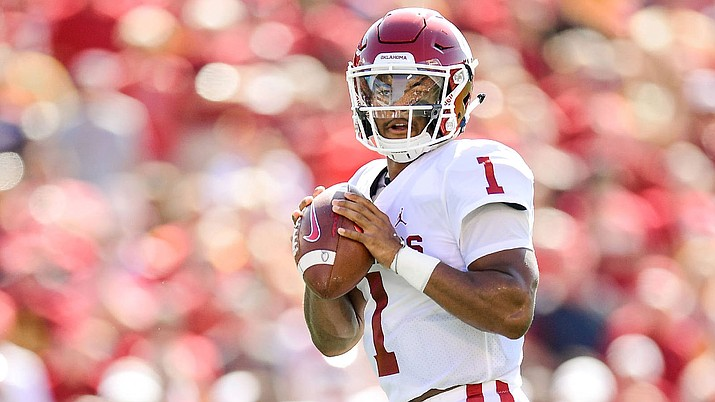 Kyler Murray finished 3-of-8 for 12 yards and also ran once for 4 yards. The Cardinals went three-and-out on two of his four series. (Photo courtesy of Oklahoma Athletics)