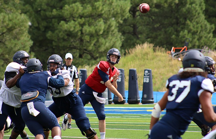 NAU senior quarterback Case Cookus has been named to the watch lists for FCS national performer of the year and the Walter Payton Award. He won the performer of the year award in 2015. Photo courtesy NAU.