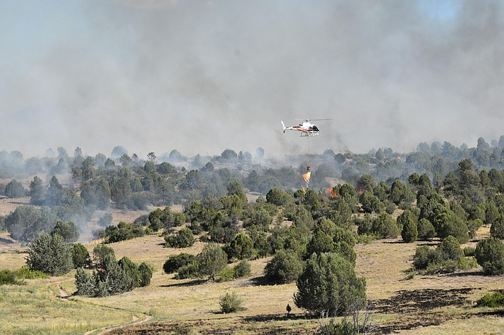The Prescott National Forest conducts aerial ignitions on the Pemberton Fire Wednesday, Aug. 14. (Prescott National Forest/Courtesy)