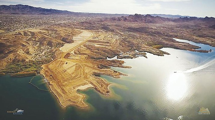 The future Havasu Riviera project is shown earlier this year. Officials announced Wednesday the 500-acre project is back on track. (Daily Miner file photo)