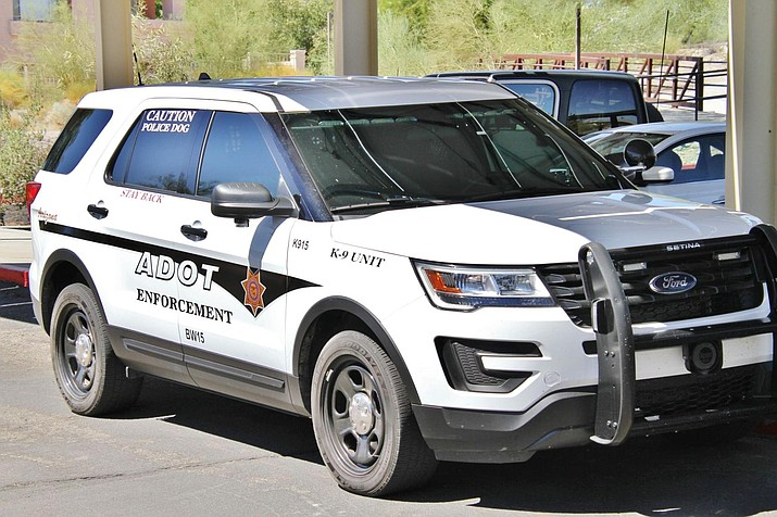 Officers from the Arizona Department of Transportation canine unit underwent training in Lake Havasu of Thursday.(Photo by Brandon Messick/Today's News-Herald)