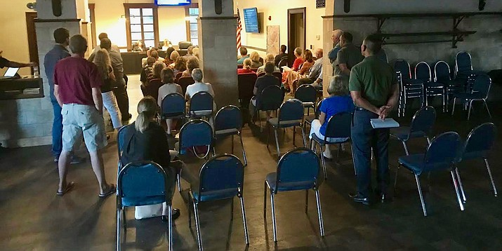 After the Clarkdale Council voted on an APS substation re-zoning proposal last week, the standing-room-only meeting cleared out, but there were other major items still to decide, such as sales and construction tax rates. VVN/Jason W. Brooks