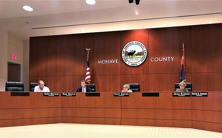 The Mohave County of Supervisors working, Monday, Aug. 19. (Agata Popeda/Daily Miner)