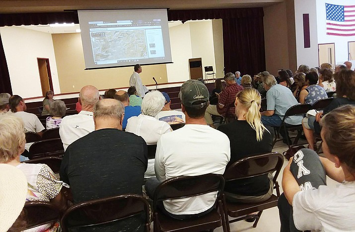 More than 40 Beaver Creek residents spoke at a Saturday meeting against a proposed housing development northeast of Bice Road. Photo courtesy of Julie Bernstein Engelmann