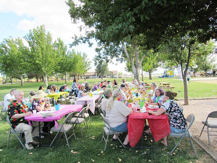 Participants enjoy the inaugural Hawaiian Luau put on by the Chino Valley Police Foundation in 2018. (Marc Johnson/Courtesy)