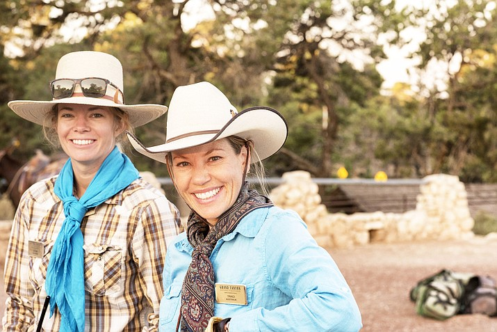 Teigan Babcock (left) and Traci Dolan have formed a lasting friendship after meeting as wranglers at Grand Canyon in 2018. (Veronica Tierney/WGCN)