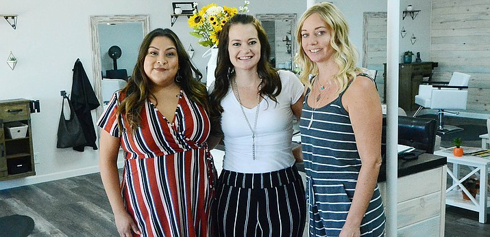 Sunshine Hair Studio has opened at 638 South Main Street in Cottonwood, and is open Tuesday through Saturday, 9 a.m. to 5 p.m. From the left are stylist Chelly Jackson, owner Candice Finch and stylist Erin Ecklor.