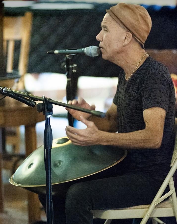 Matt Venuti plays a hang at La Posada Aug. 10. (Todd Roth/NHO)