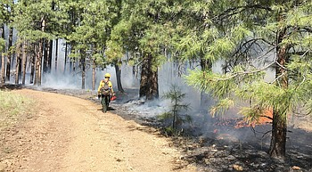 Some wildfires still burning; smoke visible in Verde Valley photo