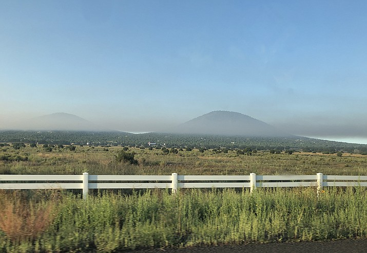 Smoke from the Boulin Fire settles into the valley along Hoctor Road in Williams. (Wendy Howell/WGCN)